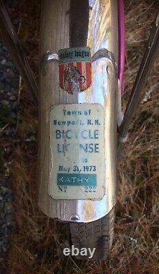 Vintage Schwinn Muscle Bike Slik Chik Original Survivor Sting-Ray Girls 1970s
