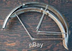 Vintage Schwinn Phantom Bike 26 FENDERS Braces Light SpringFork Cruiser Bicycle