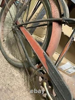 Vintage Schwinn Phantom Bike Bicycle Black and Red Cruiser Used Very Old 50s
