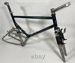 Vintage Schwinn S 9 Six Mountain Bike Frame Set Rock Shox 1995 Full Suspension