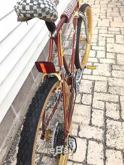 Vintage Schwinn Sidewinder Mountain Bike Mens 26 Gold Ukai 1982 Sierra Rare MTB