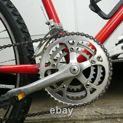 Vintage Schwinn Sierra Bicycle Classic 80s MTB 17.5 CroMo Frame Red