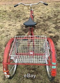Vintage Schwinn Speedster Cruiser Adult Trike Men's 26 3 Wheel Bike 1960's Red