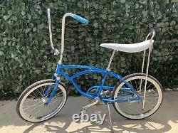 Vintage Schwinn Sting-Ray Blue 20 Wheel Bike Banana Pearlie Seat Adult/Kids