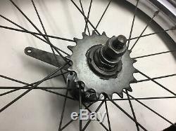 Vintage Schwinn Stingray 20 Chrome S2 Rear Wheel Rim & Slick Tire