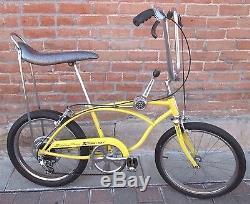 Vintage Schwinn Stingray 5 Speed, Chicago Muscle Bike, Banana Seat, Yellow