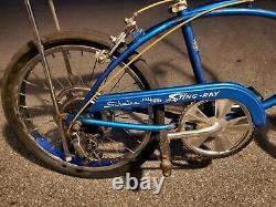 Vintage Schwinn Stingray 5 Speed metallic blue Original Survivor