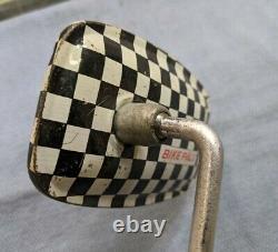 Vintage Schwinn Stingray Bike Pals Checkerboard Mirror, Krate, Musclebike