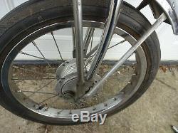 Vintage Schwinn Stingray Krate Apple Pea Orange Front Fork Assembly & Atom Wheel