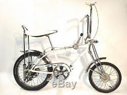 Vintage Schwinn Stingray Krate White Cotton Picker 1970 NICE LOOK