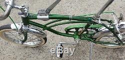 Vintage Schwinn Stingray Run-a-bout 3 Speed Stick Shift Bike Near Original