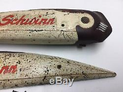 Vintage Schwinn Straightbar Mens Tank & Delta Horn Maroon Cream Hornet Panther B