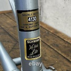 Vintage Schwinn Voyageur Frame Set 11.8 Road Bike 58cm Lugged Xtra Lite 4130