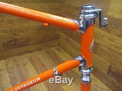 Vintage Schwinn World Voyageur 27 Steel Lugged Road Bike Frame Set 58cm 23