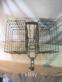 Vintage Schwinn folding collapsible double shopping basket
