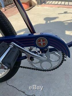 Vintage Schwinn push-back 2 speed, double-fork vertical front springer