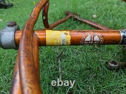 Vintage Schwinn stingray bicycle frame- Coppertone