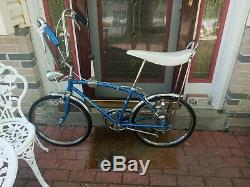 Vintage Sky blue 1967 Schwinn Stingray 5 speed Fastback muscle bike not krate s2