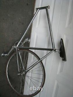 Vintage Track Bike FOR Parts SCHWINN Fixed Gear 60cm CHROME FRAME SEE TREK N