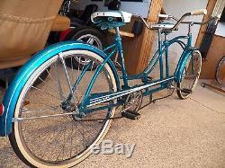 Vintage Western Flyer 1962 Tandem Bicycle, Huffy Daisy, Davis Imperial, Schwinn