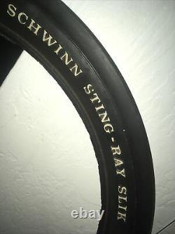 Vintage White LetterSchwinn Stingray Krate rear SLIK original 20 X 2.125 tire