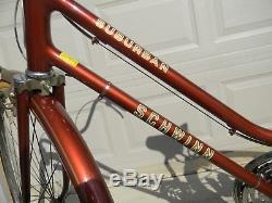 Vintage Womens 1970's Schwinn Suburban 3 Speed Bicycle Root Beer Color 27