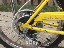 Vintage Yellow Schwinn Stingray 5 Speed Muscle Bike / Bicycle