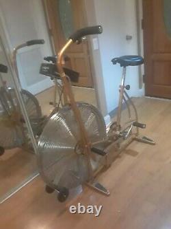 Vintage gold SCHWINN AirDyne Stationary Bike With ERGOMETER