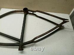 Vintage prewar Schwinn 26 mens Bicycle frame klunker straightbar autocycle dx