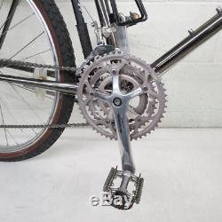 Vtg 1987 Schwinn High Sierra 20 4130 CrMo 18-Speed Mtn Bike Black Chrome MINTY
