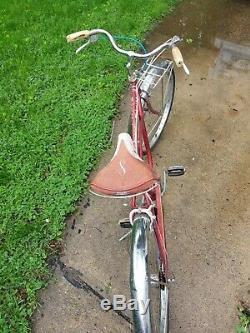 Vtg Orginal Schwinn Corvette Mens 1962 Cruiser 3 Speed S2 Bicycle Bow Pedal 26
