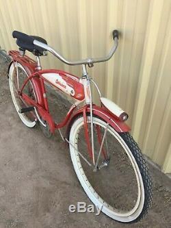 Vtg Schwinn 26 Tank Bike Boy's Hornet Spitfire Bicycle Chicago Delta Light Rack